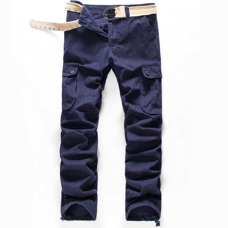 Image 2 - BOLUBAO, новинка, мужские брюки карго, мужские брюки с несколькими карманами, военные камуфляжные спортивные брюки, мужские брюки с эластичным поясом-in Повседневные брюки from Мужская одежда