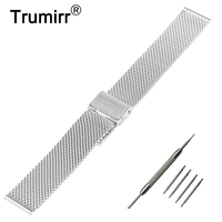 18mm 20mm 22mm 24mm Milanese Watch Band For Breitling Stainless Steel Strap Metal Wrist Belt Bracelet