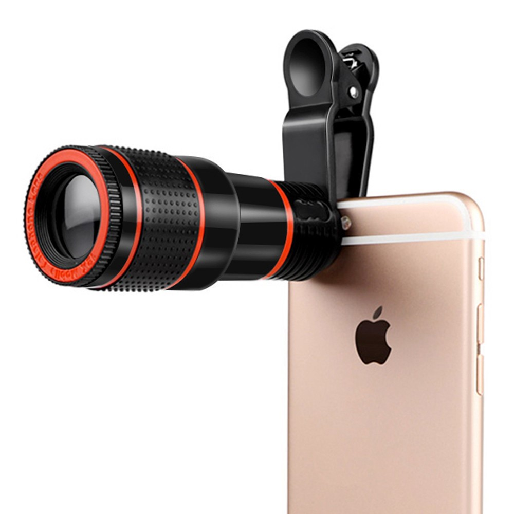 HD Mobile Phone Telephoto Lens 8X Zoom Optical Telescope Camera Lens with Clips For iphone 4S 5S 6S 7 All Phone No Dark Corner