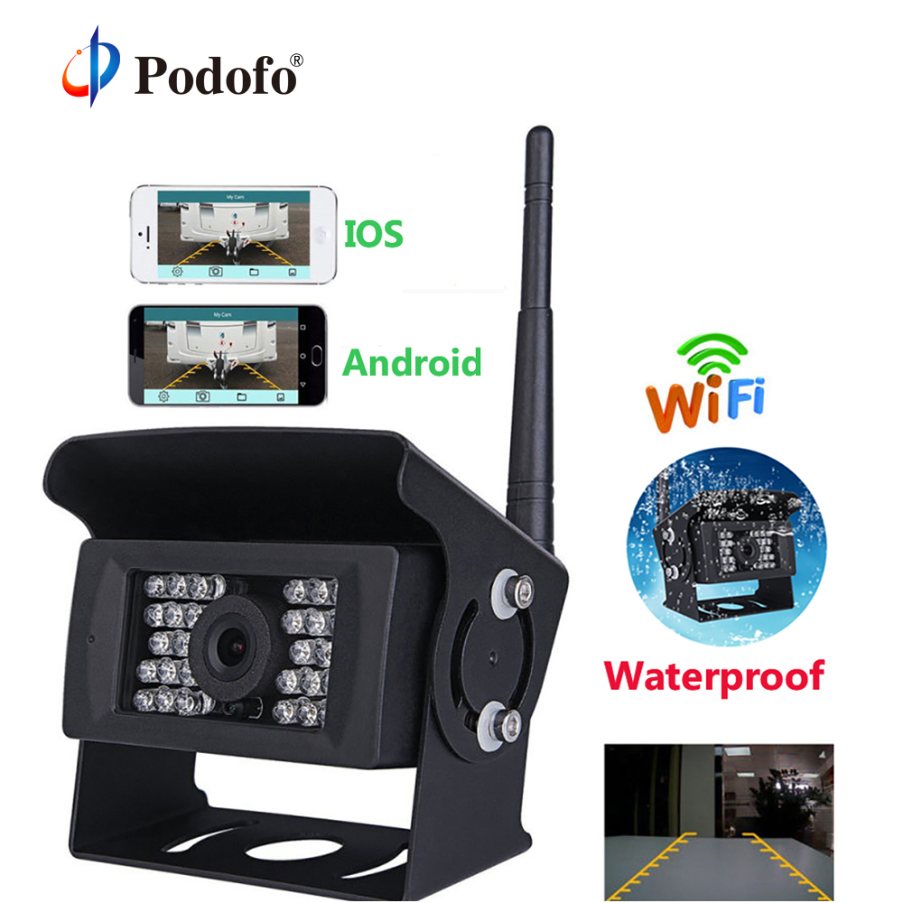 Podofo Wireless Wifi Car Backup Camera Heavy Duty 28 LED Rear View Camera IR Night Vision