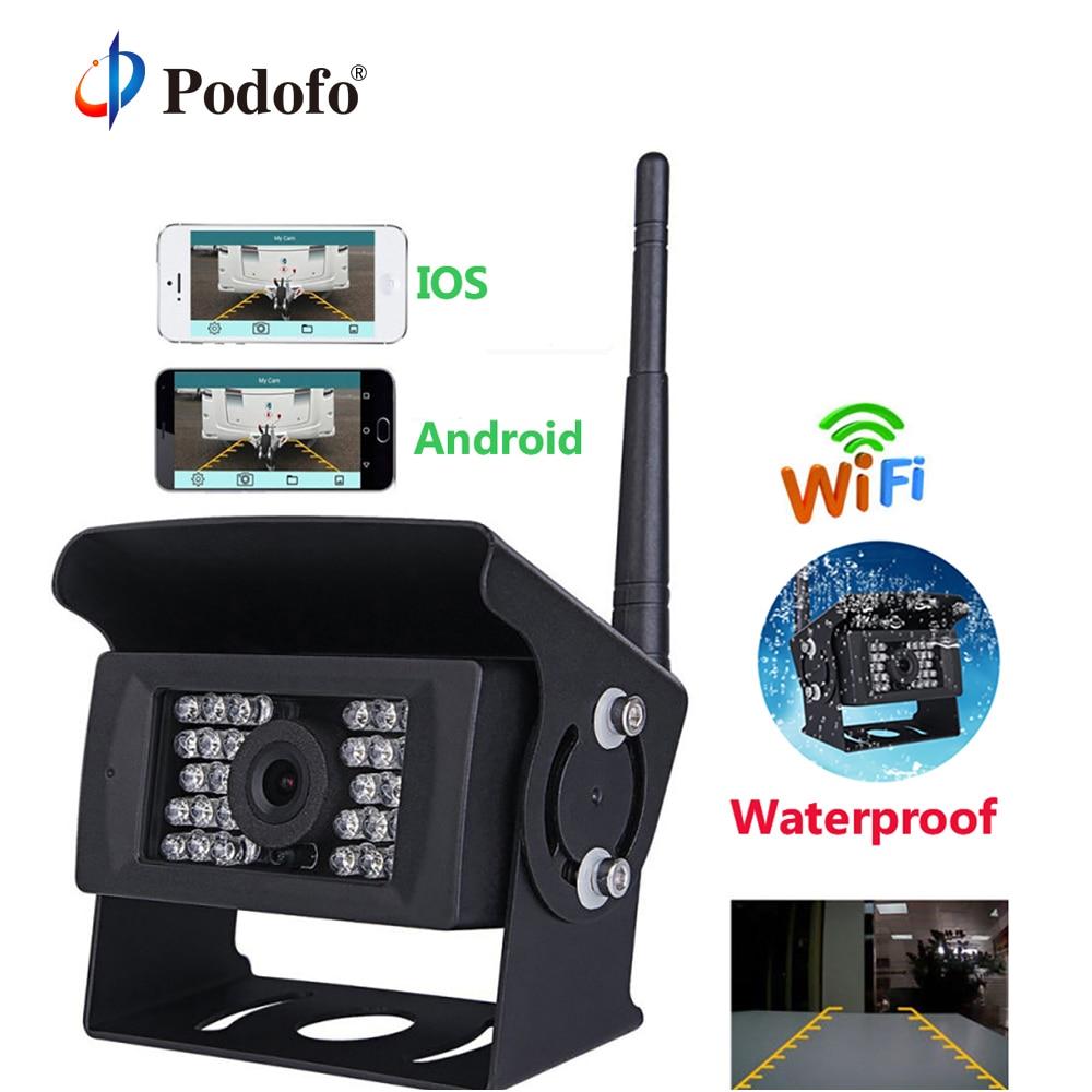 Podofo Wireless Wifi Car Backup Camera Heavy Duty 28 LED Rear View Camera IR Night Vision