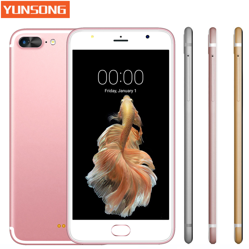 A7 Plus Smartphone 5 5 inch Capacitive Screen MTK6580 Quad core telephone Android Mobile Phone GSM