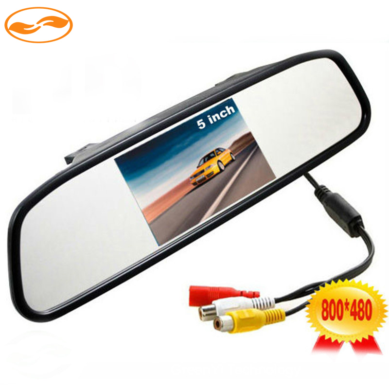 High Resolution 5 Inch HD Rearview Car Interior Mirror Monitor 2CH Video Input 800*480 DC 12V