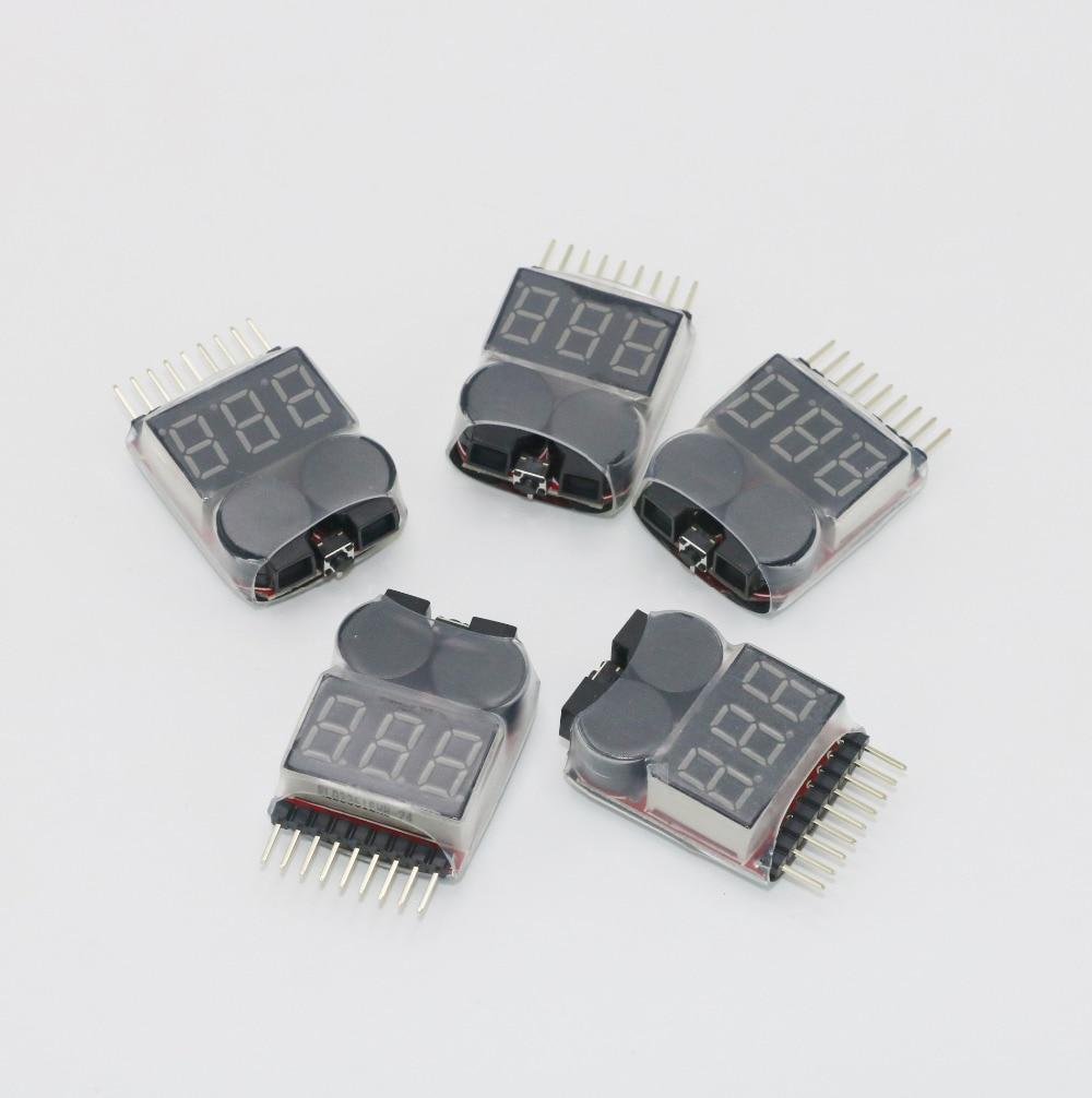 Lipo батарея индикатор напряжения монитор, Вольт-метр звуковой сигнал 1-6S 3,7 V-22,2 V 3,7 V 7,4 V 11,1 V 14,8 V 18,5 V 22,2 V