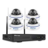 Techage 4CH 720 P NVR 1080 P беспроводной Wi Fi видеонаблюдения системы купол Антивандальная IP камера P2P дома комплект 2 ТБ HDD