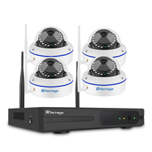 Techage 4CH Kablosuz 2 TB HDD NVR CCTV Güvenlik Sistemi 4 adet 720 P 1MP Dome Wifi IP Kamera VandalProof ir Gece Gözetim Kiti