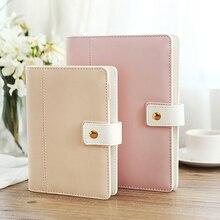 New Hot Korean A5 A6 Cute Macaron Leather Notebook Planner Spiral Big Size Binde