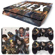 Newest For Legends Apex Stickers For PS4 Slim Playstation Console & 2 Controller Skin for Playstation 4 PS4 Slim Accessories
