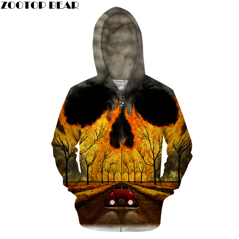 Cloud&Skull 3D Zip Hoodie Men Zipper Casual Sweatshirt Printed Tracksuit Brand Pullover Personality Male DropShip ZOOTOPBEAR Hoodies & Sweatshirts     - title=