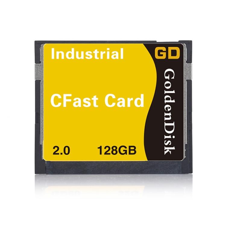 bilder für Goldendisk neue 128 gb cfast 2,0 digitale speicherkarte 3400x welt schnellste mini ssd festplatte 6 gbps nand mlc original-