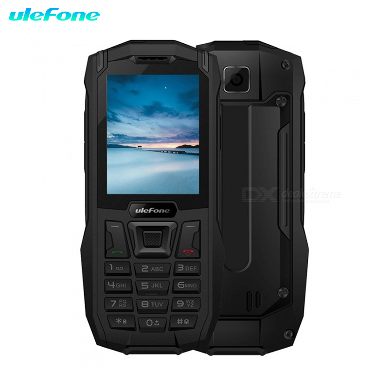 Ulefone Armor Mini étanche IP68 2.4 quot MTK6261D Radio FM sans fil 2500 mAh 0.3MP téléphone robuste double SIM