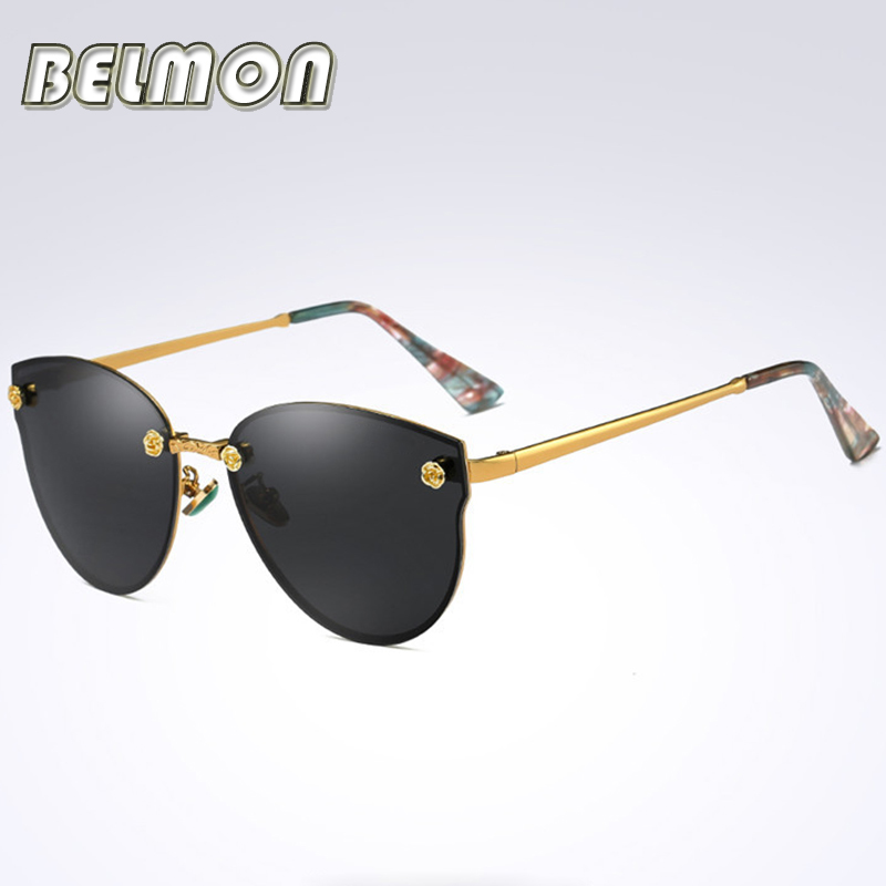 2018 Mode lunettes de Soleil Polarisées Femmes Hommes Pilote Marque  Designer Lunettes de Soleil Dames Pour Homme Femme Conduite UV400 RS136 b8db8f973c77