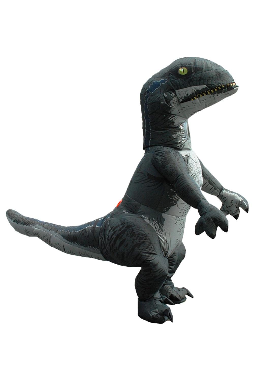 Jurrasic World Inflatable Costume Halloween Cosplay Inflatable Raptor Dinosaur Costume Funny Dress Suit