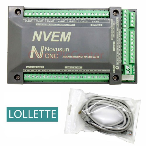 NVEM CNC Controller 3 4 5 6 Axis MACH3 Ethernet Interface Board Card 200KHz For Stepper