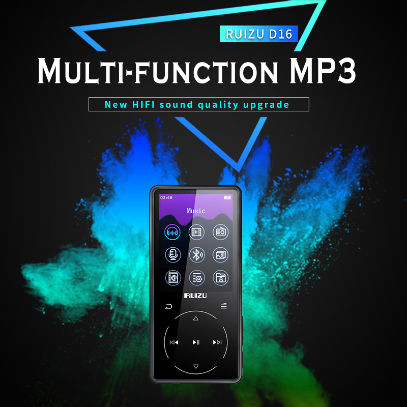 RUIZU NEW mp3 D16 Mp3 Player Usb 8Gb 16G Storage 2.4 inches HD Color Screen Play High Quality video Radio Fm E-Book Music PlayerRUIZU NEW mp3 D16 Mp3 Player Usb 8Gb 16G Storage 2.4 inches HD Color Screen Play High Quality video Radio Fm E-Book Music Player