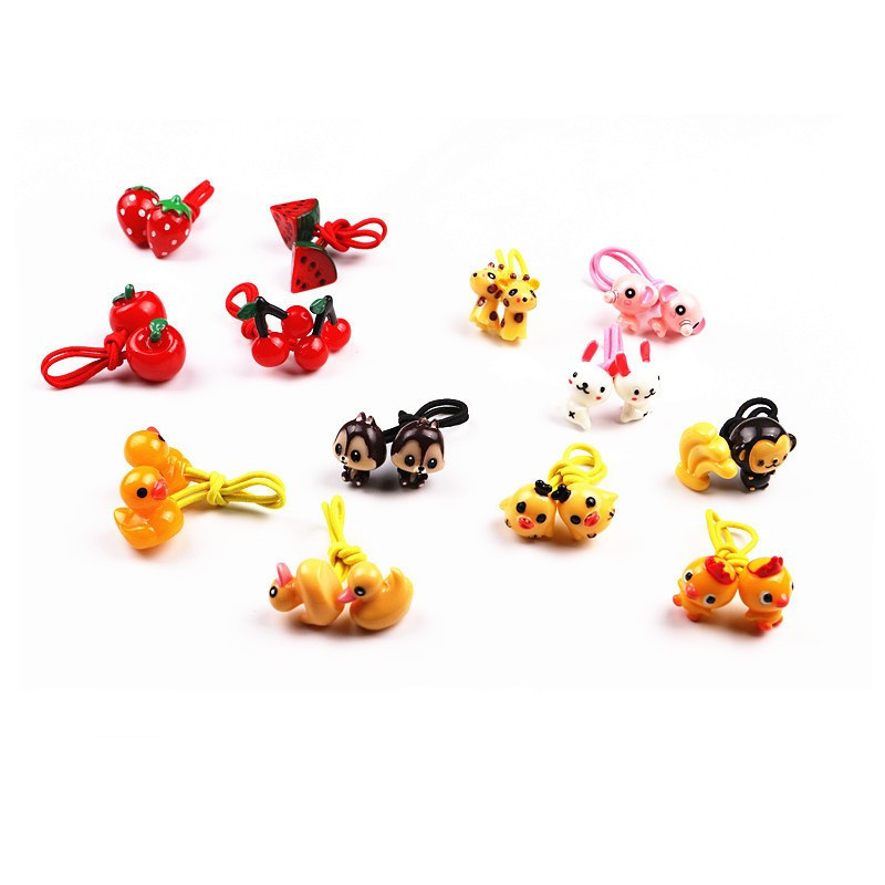 Free Shipping,2018 New MOQ=20pcs Girl Kids Tiny Hair Accessary,Animal Design,Hair Bands Elastic Ties Ponytail Holder