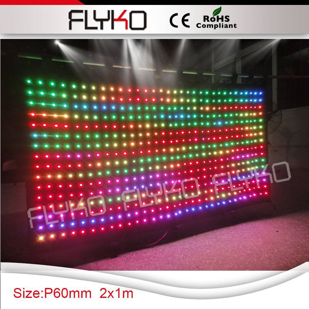 Free Shipping hot new products for 2015 LED Flexible Video Curtain