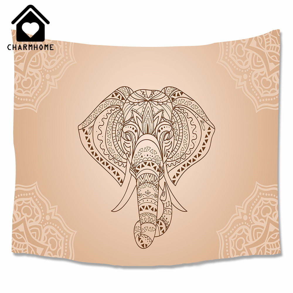 CHARMHOME Elephant Mandala Style <font><b>Tapestry</b></font> Wall Hanging Decor <font><b>Indian</b></font> Home Hippie <font><b>Bohemian</b></font> <font><b>Tapestry</b></font> for Dorms Summer Beach Throw