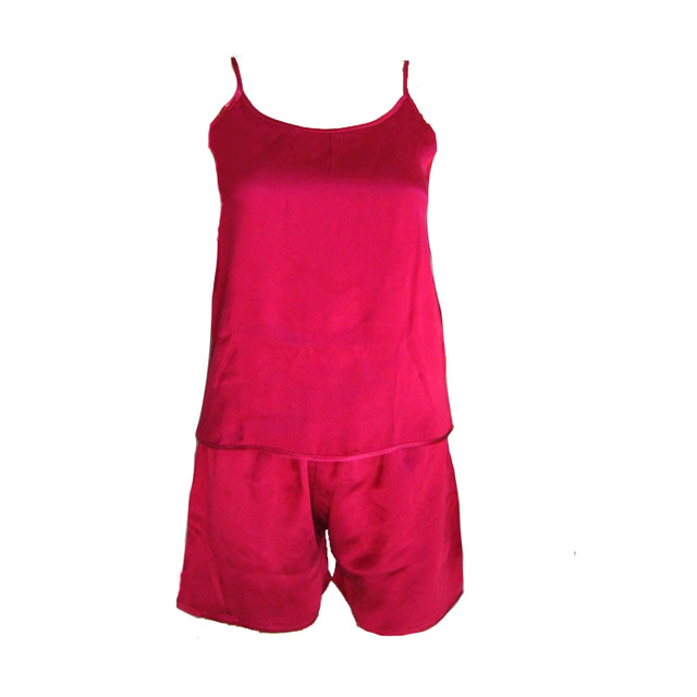 100% Silk Camisole Set Natural Mulberry Silk Fabric Underwear Womens Tops Casual Camisole with Silk Pants whole set