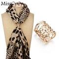 MissCyCy Nova Chegada Broche de Ouro-Banhado Clip Lenço de pescoço Do Vintage Oco Rose Flor Broches Para As Mulheres Presente