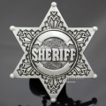 New Vintage Silver Western Texas Sheriff Ranger Cop Star Badge Rodeo Belt Buckle Jewelry 2017 Men Gift