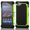 Hybrid Defender Armor Case For Sony Xperia Z1 Compact D5503 Hard Back Cover Silicone Rubber Impact Case For Z1 Compact