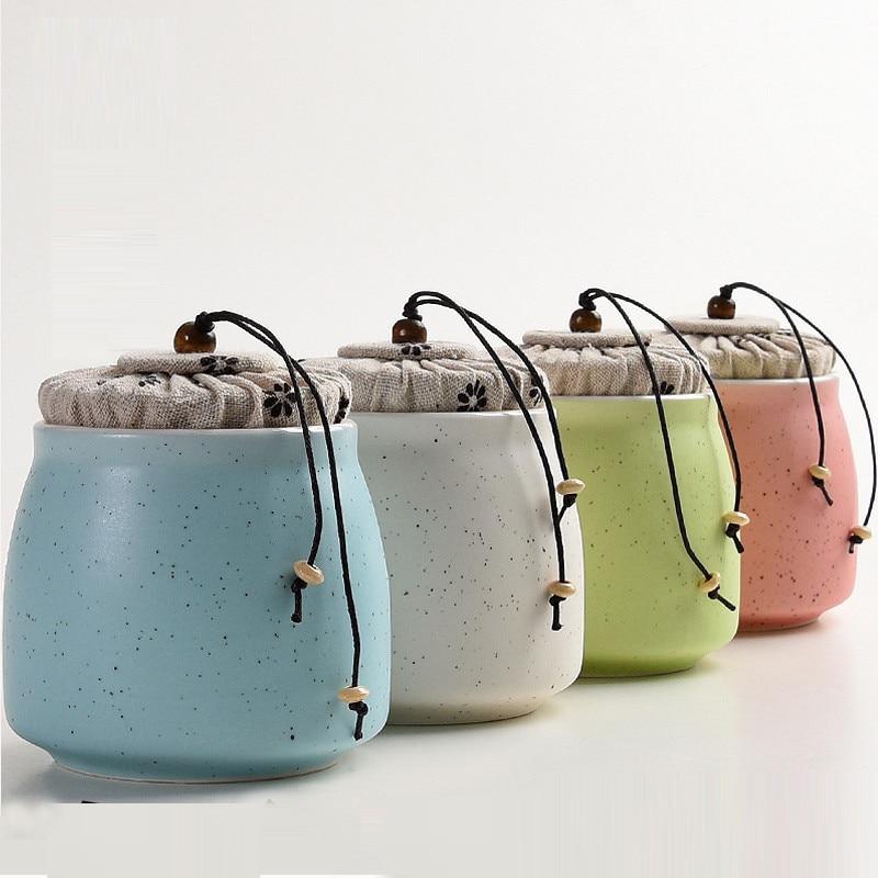 Handmade Storage Bottles Jars Tea Caddy Tea Sets Zero Accessories TeaSet Canister ceramics Sealed Cans KungFu Tea Storage Tanks