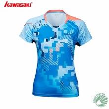 Профессиональная дышащая футболка для бадминтона Kawasaki, быстросохнущая спортивная одежда, Джерси для мужчин и женщин, ST-S1107