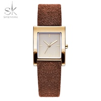 Luxury Womens Watches Rectangle Vintage 2018 Famous Top Brand SK Ladies Wrist Watches For Women Leather