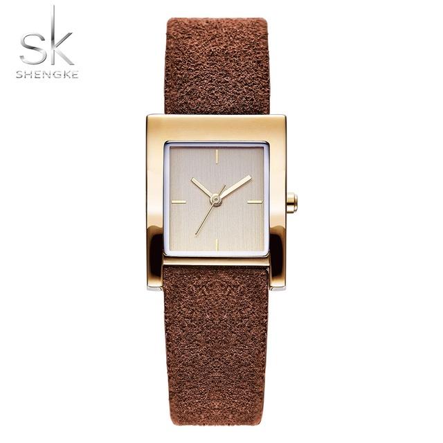 Genuine Leather Quartz Lady Watch