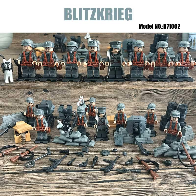 Classic WW2 German Blitzkrieg Special Assault Military War Scene Model Mini German Army Soldier Figures Building Block Brick Toy men of war assault squad ключ стим
