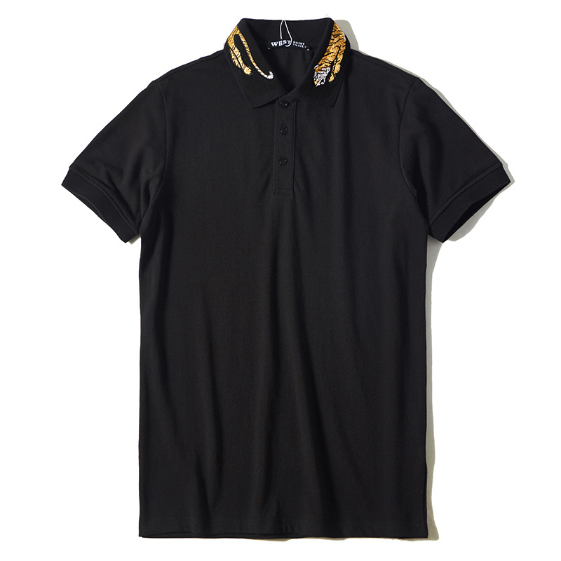 2019 Summer Top Tiger Embroidery   Polo   Shirt Men Brand Short Sleeve Cotton Turndown Collar   Polos   Masculina Ropa Hombre Verano B35