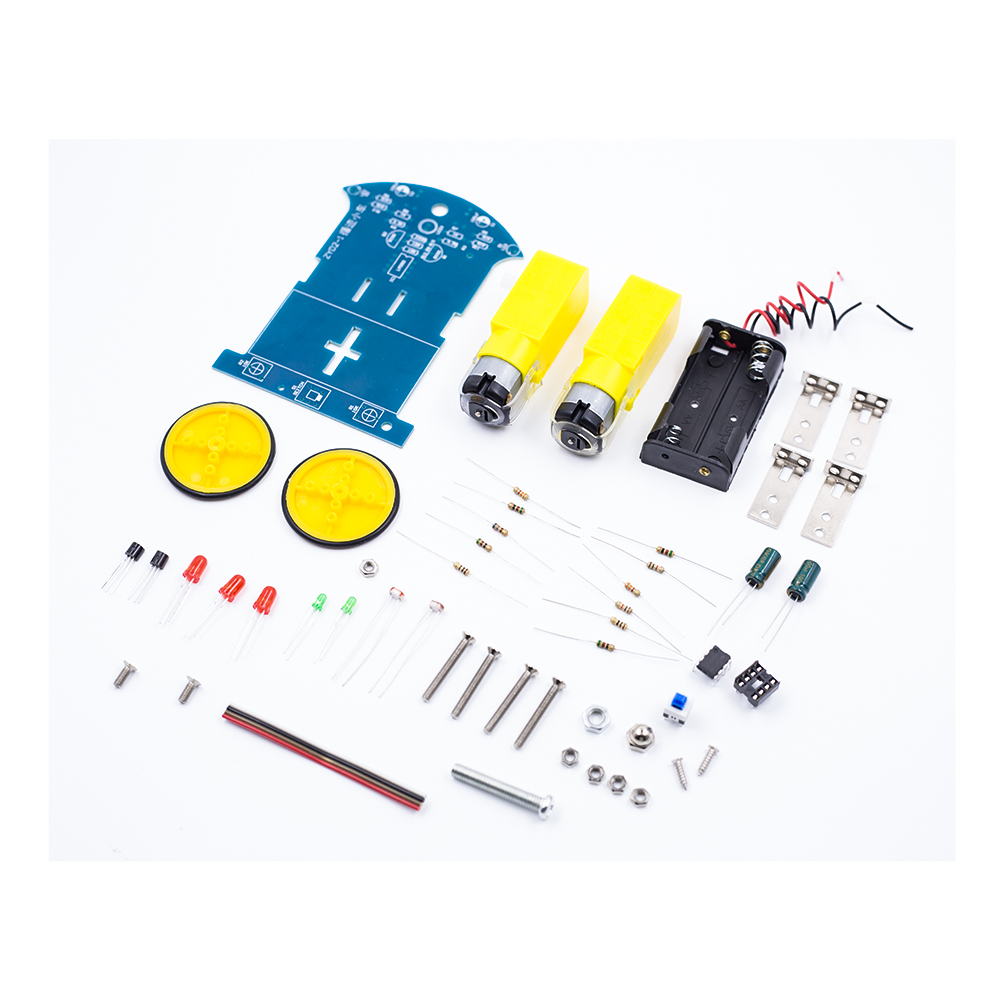 Smart Tracking Robot Car Diy Soldering Project Kit With Dc Motor Circuit Electronic Production Suite Kits Module Board School Electronics Education Competition For Kids In Integrated Circuits From