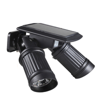Security Rotatable Waterproof LED Solar Light Outdoor 7 2 LED Solar Power Dual Head PIR Motion