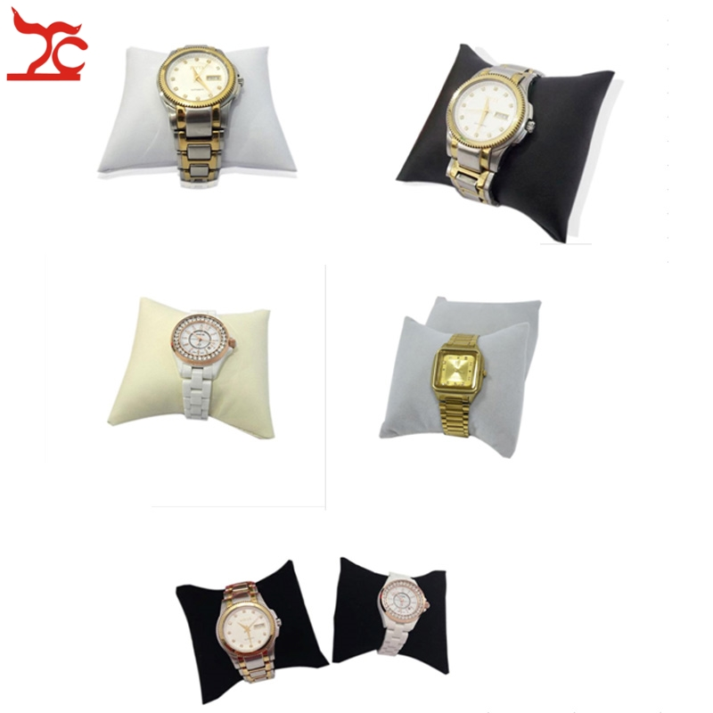 Factory Sale Jewelry Display Cushion Leatherette Velvet Bracelet Watch Pillow Cushion Holder Stand 5 Choice Medium