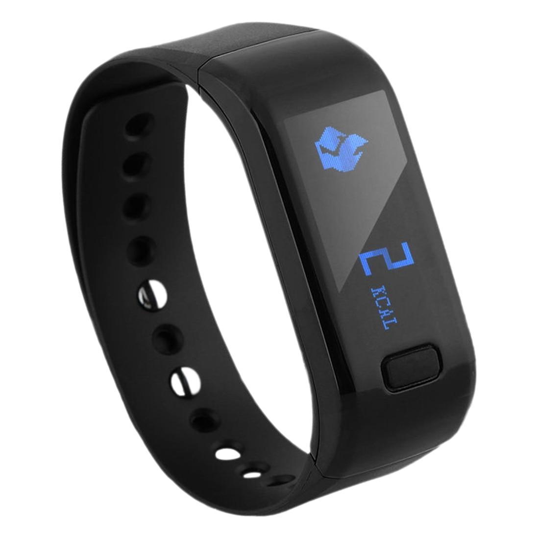 Bluetooth Health Wristband Sport Activity Tracker Sleep Monitor Band Smart Watch Black