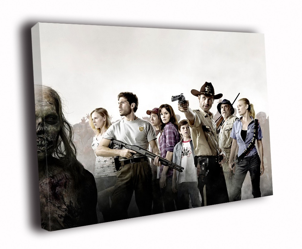 US $39 99 |HD Canvas Printings Painting The Walking Dead Revolver Rick  Grimes Shane Walsh TV Series D5986-in Painting & Calligraphy from Home &  Garden