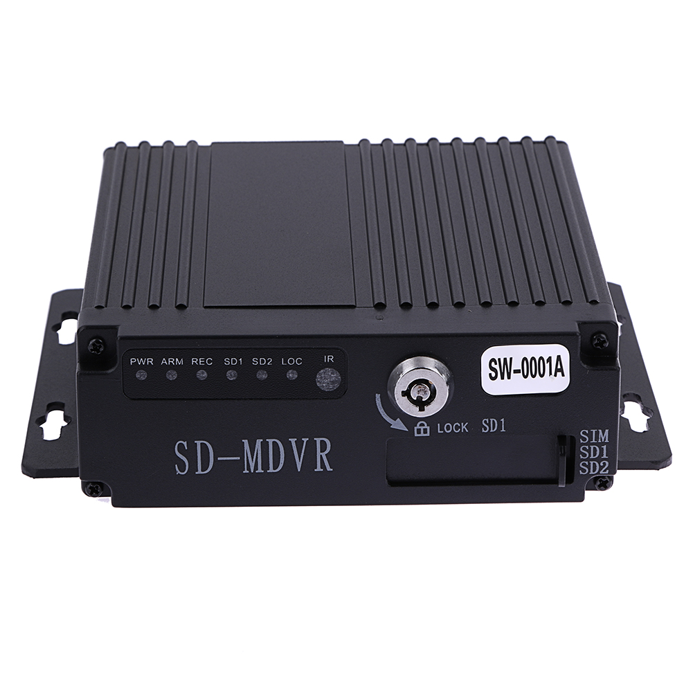 SW-0001A SD Remote HD 4CH DVR Realtime Video Recorder for Car Bus RV Mobile HD 4CH DVR High Quality DVR/Dash Camera free shipping brand new 4ch 720p ahd hd real time recording 128gb sd car mobile dvr video recorder for heavy bus taxi truck van