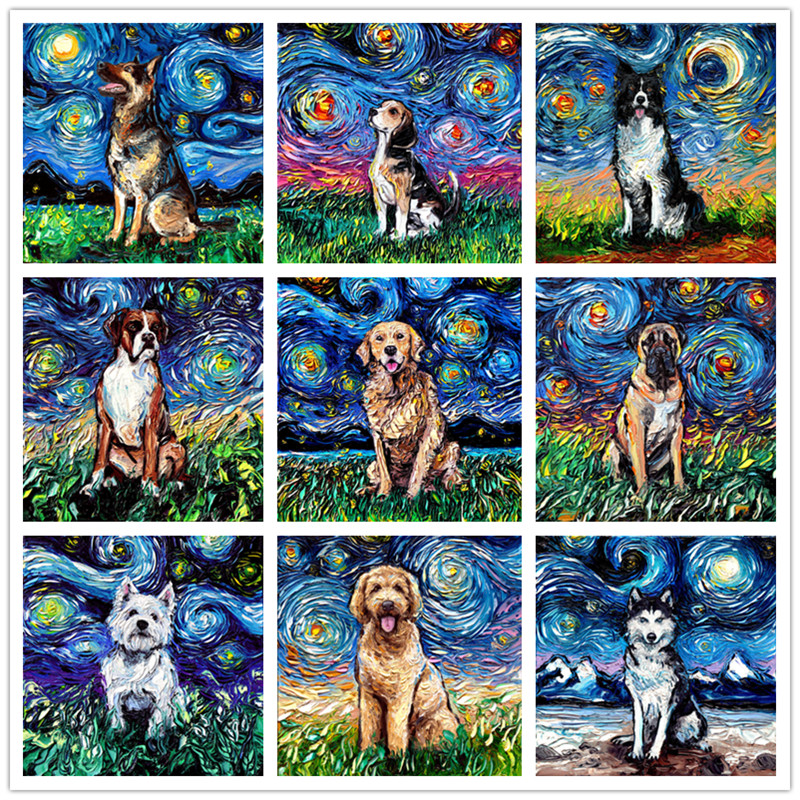 Dogs ~ DIY Counted Cross Stitch Pattern Full Cry ~ Horses