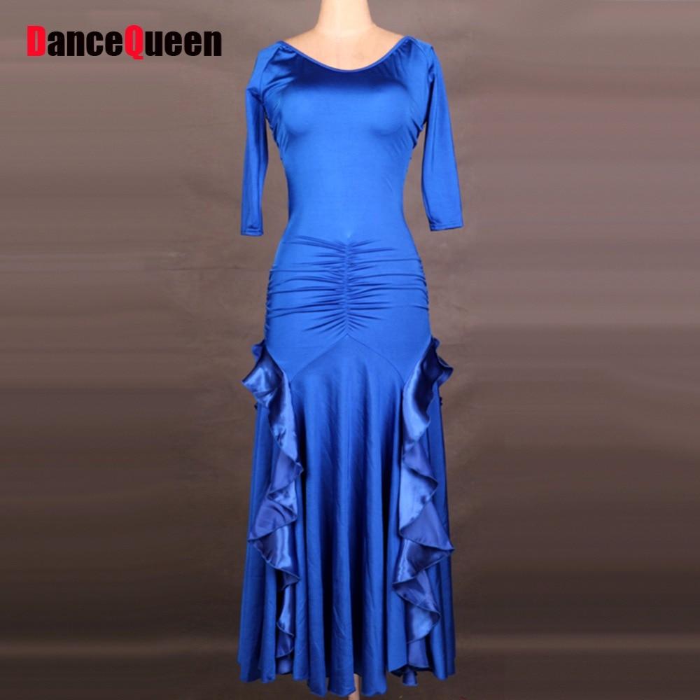 2018 New Arrival Ballroom Dance Dress 7 Colors Flamenco Dresses Vestido De Formatura Tango/Waltz Dance Dress Escapulario DQ5040