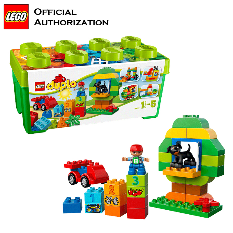 Duplo Brand Blocks Building Children Toy Big Size Educational Lego 65pcs Building Baby Beginner Toys Blocos De Construcao 10572 свитер blugirl свитер