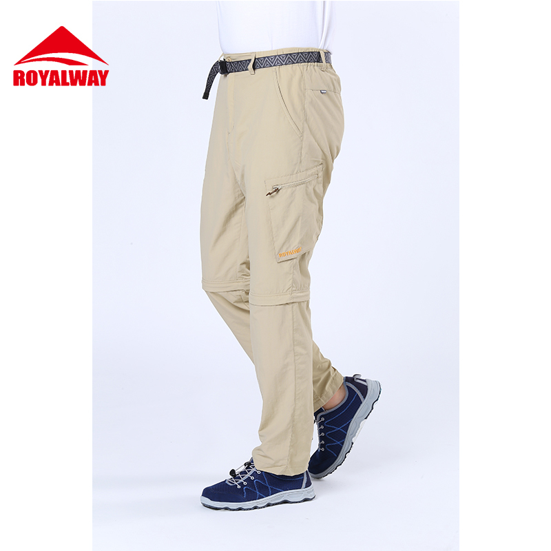 ROYALWAY Hiking Pants Men Camping Fishing Outdoor Sports Climbing Trekking Randonnee Tactical Pants Trousers#RFPM1018G