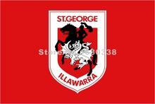 St. George Illawarra Dragons Flag 3ft X 5ft National Rugby League NRL Banner Size 4 144* 96cm Flag