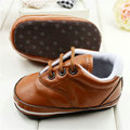 Newborn Soft Leather Sneakers Baby Toddler Boy Girl Crib Pram Shoes Prewalker LC36