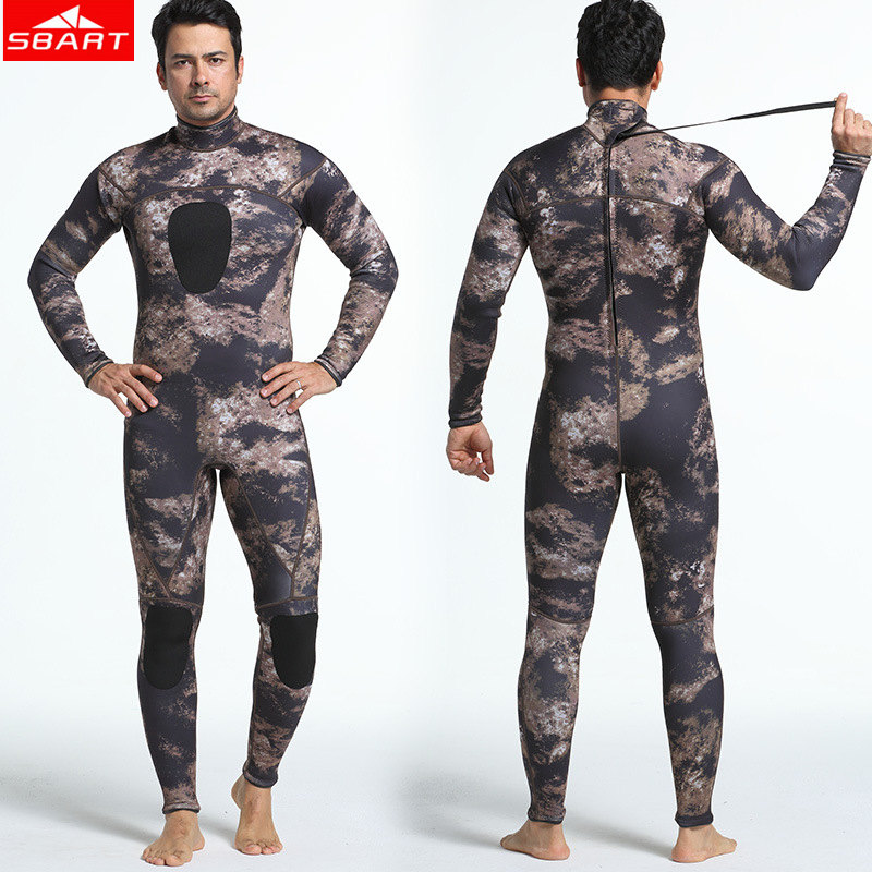 SBART 3MM Camouflage Neoprene Wetsuits Swimming Snorkeling Spearfishing Scuba Diving Suit Craftsm Scuba Keep Warm Diving Wetsuit