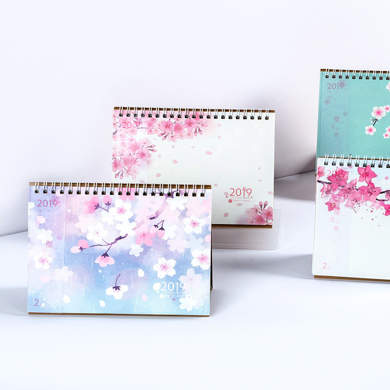2019 Novelty Cherry Blossoms Desk Calendar DIY Mini Table Calendars Daily Schedule Planner 2018.09~2019.122019 Novelty Cherry Blossoms Desk Calendar DIY Mini Table Calendars Daily Schedule Planner 2018.09~2019.12