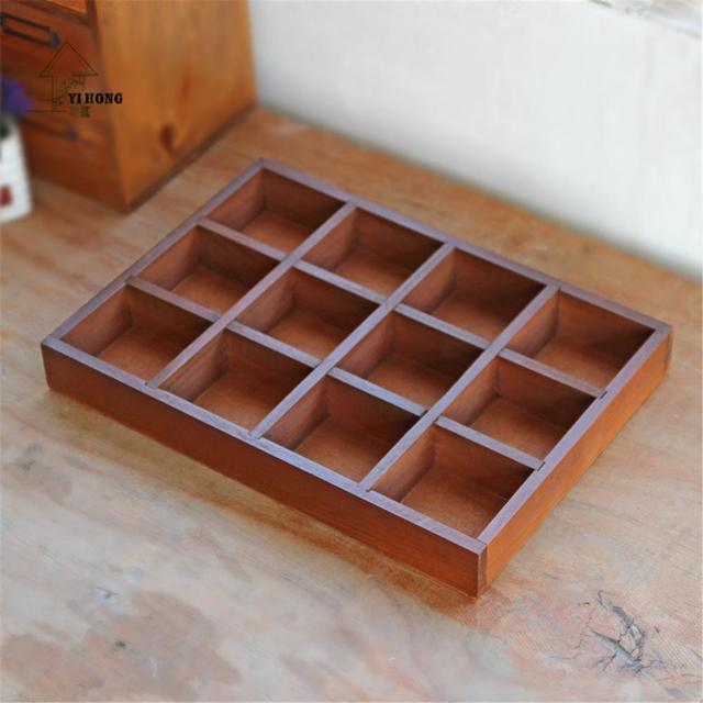YIHONG Jewelry Organizer Wood Boxes Crafts Treasure Chests Vintage
