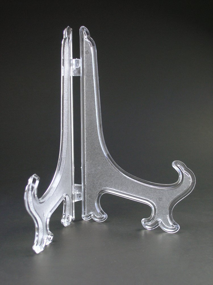 40 Clear Plastic Easels Or Plate Holders Pkg Of 40 Easels To Classy Plate Stands For Display