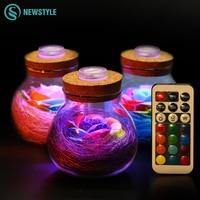 LED RGB Dimmer Lamp Night Light Flower Bottle Creative Romantic Rose Bulb Great Holiday Gift For