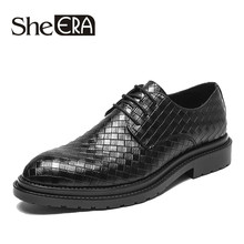 2019 Dress Men Shoes Microfiber Leather Luxury Breathable Fashion Wedding Shoes Men Oxford Business Shoes Plus Size38-44 For Men(China)